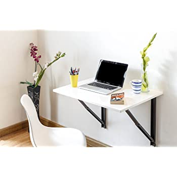 Dev Modular Urban Homes Wall Mounted Folding Laptop Table And Study Table  (Frosty White)