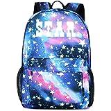 FANDARE Schulrucksack Galaxy Leuchtend Schultasche Junge Mädchen Rucksäcke Schulranzen mit USB Teenager Backpack Tagesrucksac