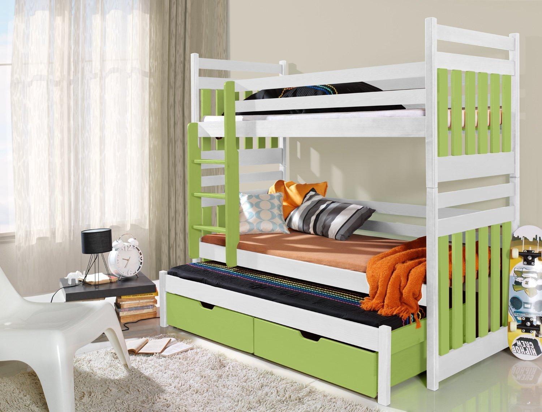 Hochglanz Etagenbett Spielbett Alex : Massivholz kiefer etagenbett liegeflächen ink matratzen
