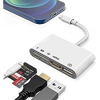 Lightening auf HDMI USB Adapter, 1080P HDTV Digital AV Adapter 5 in 1 HDMI SD TF Kartenleser USB OTG-Schnittstelle und…