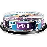 Philips DVD-R DM4S6B10F/00 - DVD+RW vírgenes (4,7 GB, DVD-R, 120 min, 16x)