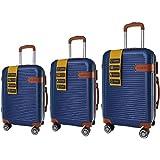 مجموعة شنط سفر بعجلات من سو اند سي 3 قطع - باللون الازرق