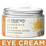 Nuray Naturals Vegan Eye Cream for Dark Circles, Under Eyes, Eye Bags and Puffy Eyes, 50 g