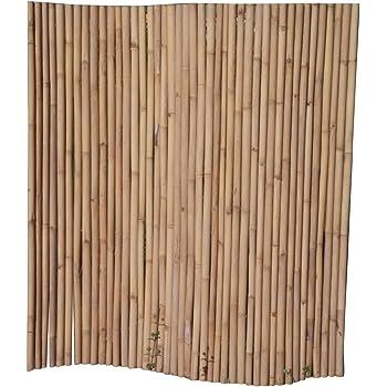 gelb braun 180 cm h bambuszaun volles rohr flexibel mit draht verbunden gelb braun schwach konisch lackiert ca 180x180 cm o 3 5 cm