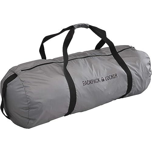 Backpack Locker - Sacca Zaino Per Aereo - Bosa Grande A Spalla - Lucchetto Gratis (Grigio, 45-55 Litri)