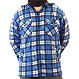 Game Technical Apparel Mens Richmond Sherpa Fleece Lined Thick Lumberjack Hooded Jacket