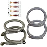 """Water2buy Installation Kit Stainless Steel Braided Hoses 3/4"""" (22mm) >Drain & Overflow Kit > Water Hardness Test Strip"""