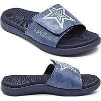 KUAILU Claquette hommes sandales de sport pour hommes pantoufles Reglables en cuir soutien de la voûte plantaire…