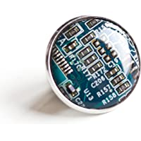 Recycled Shaltungsplatine (circuit board) Brosche, pin Blau