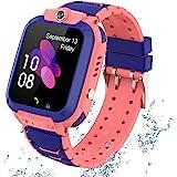 Kindersmartwatch waterdicht, GPS tracker touchscreen Kid Smart Watch Phone voor jongens en meisjes met SOS Game-camera telefo