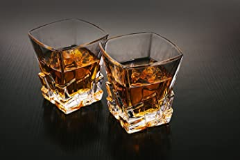 PRAX Old Fashioned Ice Glass Tumblers set of 6