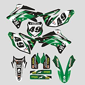 Jfgracing Custom Motorrad Komplettkleber Aufkleber Aufkleber Grafik Kit Für 2014 2017 Kawasaki Kx450f Kxf450 Auto