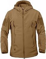Veste de combat Belloo pour homme en tissu softshell imperméable doublé polaire avec capuche