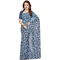 ishin Women's Georgette Saree With Blouse Piece