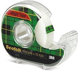 3M Scotch Magic Tape 810D Dispenser 19mmx32.9M Transperent/White