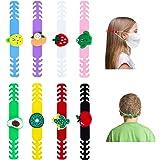 KATELUO 8 stuks oorhaken, oorhaakjes, verstelbare oorlussen, oorriem, accessoires, verstelbare haak, oorriem, verlenging, voo