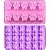 Ihuixinhe silikonform för isbitar, choklad, godis, muffins, bakning och muffins valp