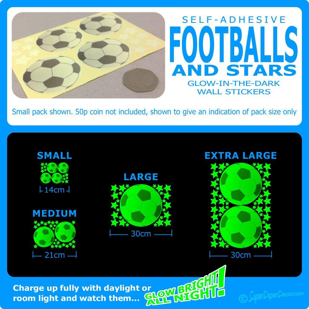 footballs glow in the dark stickers medium amazon co uk footballs glow in the dark stickers medium amazon co uk kitchen home