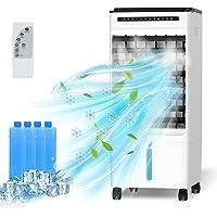 Refroidisseur d'air Mobile, 4 en 1 Climatiseur Portable Ventilateur Purificateur Humidificateur avec avec Roues et…