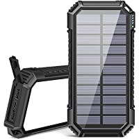 Riapow Solar Powerbank 26800mAh Tragbares Solar Ladegerät USB C Power Bank mit 3 Ausgängen Schnellladung Externer Akku…