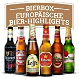 Biere der Welt Geschenkbox - 6 Flaschen verschiedener, beliebter und bekannter Exoten aus Europa