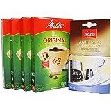 Melitta Lot de 4 paquets de papier filtrant 1 x 2 40 filtres au total 160 filtres + Melitta Machine à café et bouilloire 4 x
