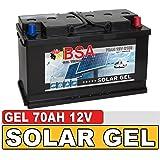 BSA Solarbatterie Gel Batterie 70Ah 12V Blei Gel Akku Boot Wohnmobil Wohnwagen Schiff Marine Batterie