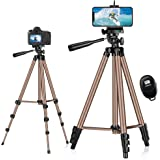 Mobile Tripod Stand,Eocean 127 cm Extendable Aluminum Travel Tripod with Carry Bag,Cellphone Tripod with Bluetooth Remote,iPh
