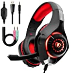 Auriculares Gaming Premium Stereo con Microfono para PS4 PC Xbox One, Cascos Gaming con Bass Surround Cancelacion ruido...