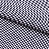 Hans-Textil-Shop Stoff Meterware, Vichy Karo 2x2 mm, Marine Blau, Baumwolle