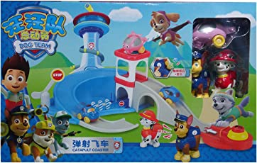 IndusBay Paw Patrol - Launch N Roll Lookout Tower - Catapult Coaster Track Set