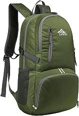 Loowoko Leichter Rucksack, 25L Unisex Outdoor Trekkingrucksack Wanderrucksack Wasserdicht Faltbarer Rucksack Daypack für Das Reisen Camping Radfahren Wandern
