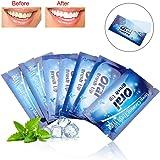 Bandes de Blanchiment des Dents, 50 Pcs Lingettes Dentaires Propres Dents Essuyer l'Outil de Nettoyage des Dents de Tissu pour les Soins de Nettoyage Profonds Oraux pour les Soins des Dents, Saveur de
