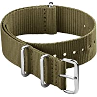 Archer Watch Straps - Bracelet de Montre Classique en Nylon de Style NATO   Choix De Couleur et de Taille (18mm,20mm…