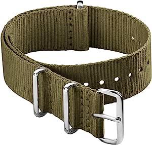 Archer Watch Straps - Bracelet de Montre Classique en Nylon de Style NATO   Choix De Couleur et de Taille (18mm,20mm, 22mm, 24mm)