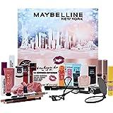 Maybelline New York Adventskalender 2021 24 Beauty Tage Make Up Beauty Kosmetik Kalender, Überraschungen, 24 Türchen, für die