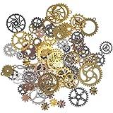 100 Grammes D'Horloge Steampunk Engrenages Pendentif en Métal pour Bricolage,Artisanat,Décorations,Artisanat de Bijoux,Produi