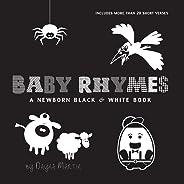 Baby Rhymes: A Newborn Black & White Book: 22 Short Verses, Humpty Dumpty, Jack and Jill, Little Miss Muffet, This Little Pig