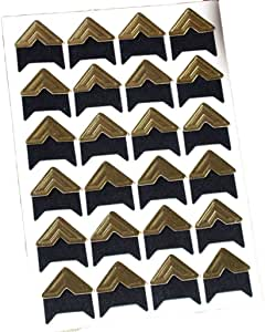 Personal Journal Picture Album Dairy and More 120Pcs Self-Adhesive Photo Frame Corner Sticker Craft Decor Photo Mounting Corners for DIY Scrapbook Black