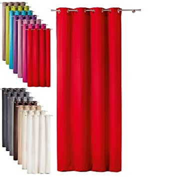 Red Curtains amazon red curtains : Today Curtains with Eyelets 140/Bronze Curtain with Eyelets ...