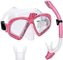 Supertrip Premium Schnorchelset Erwachsene Taucherbrille mit Schnorchel Tauchset Tauchmaske mit Kamera Halterung Tauchen Dry Schnorcheln Set