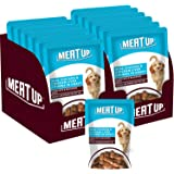 Meat Up Wet Dog Food, Real Chicken and Chicken Liver Chunks in Gravy, 6 Pouches (6 x 70g)