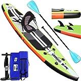 Tabla Hinchable Paddle Surf Sup Paddel Surf Bomba, Asiento de Kayak, 330 x 76 x 15 cm, Hasta 130 kg, Almohadilla integrada, A