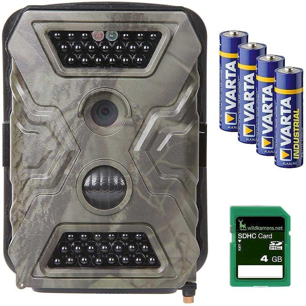 Bei der Wildkamera von Wild-Vision sind Speicherkarte und Batterien direkt enthalten.