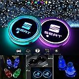Villsion Auto Emblem Schlüsselanhänger 7 Farbe Led Kristall Licht Anhänger Mit Geschenkbox Auto