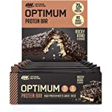 Optimum Nutrition ON Protein Bar Barritas Proteínas con Whey Protein Isolate, Dulces Altas en Proteína y Low Carb, Rocky Road