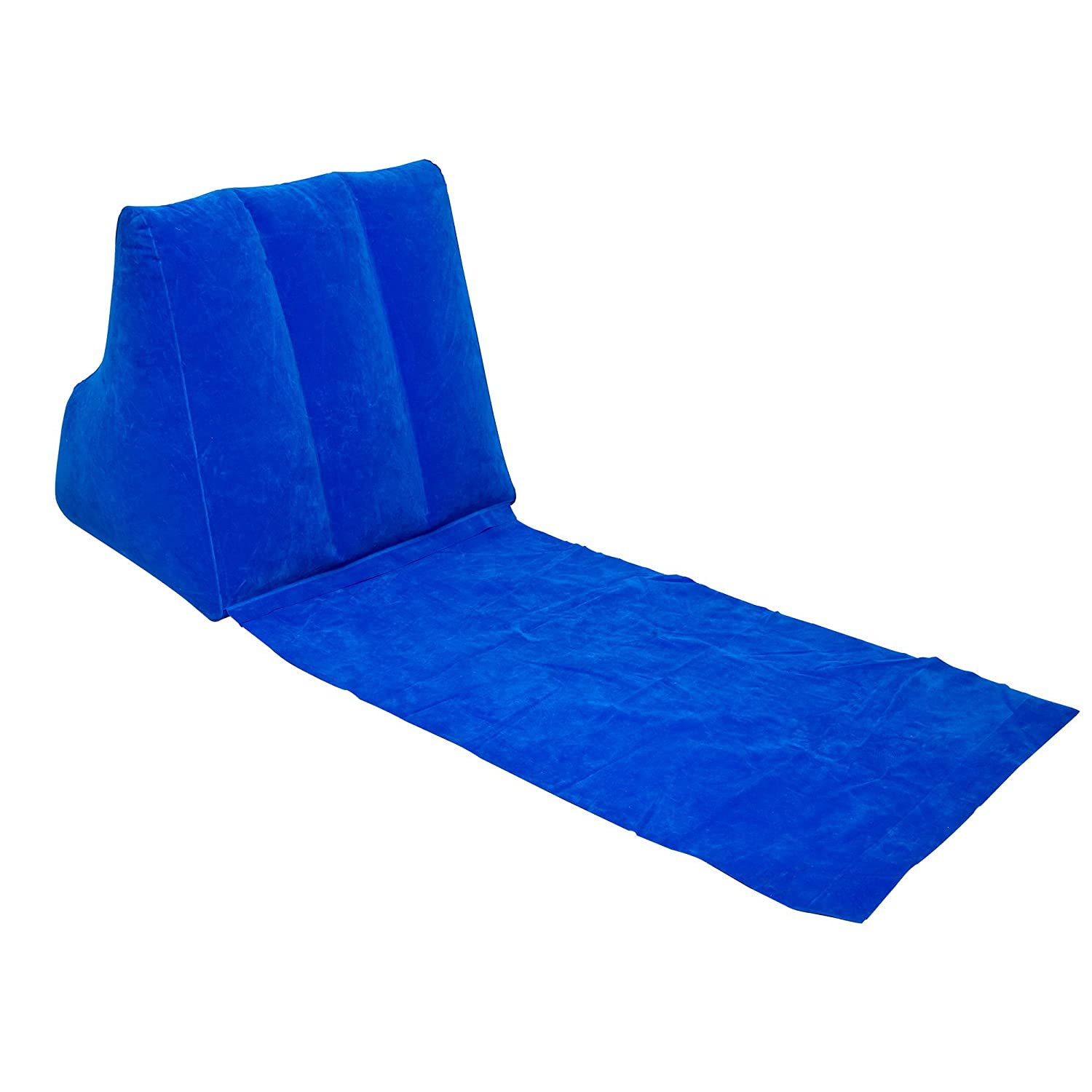 Midasity Ltd Wicked Wedge Inflatable Lounger Blue Amazon
