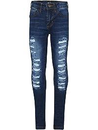 A2Z 4 Kids Kinder Mädchen Dünn Jeans Designer Denim Zerrissen Mode Dehnbar  Jeggings Hosen Stilvoll Hose 01d35e8c03