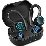Cuffie Bluetooth Sport Aoslen Auricolari Bluetooth 5.0 Cuffie Senza Fili Intrauricolari Sportive Reali Impermeabile IPX7 con
