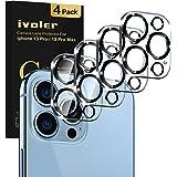 iVoler 4 Stuks Camera Lens Protector Compatibel met iPhone 13 Pro 3D, Ultrahelder dun Film van Gehard Glas Schermbeschermer [